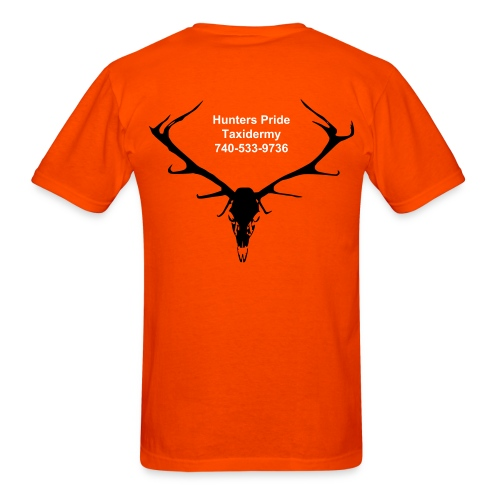 Elk Skull on Back with Name on Front left - Men's T-Shirt