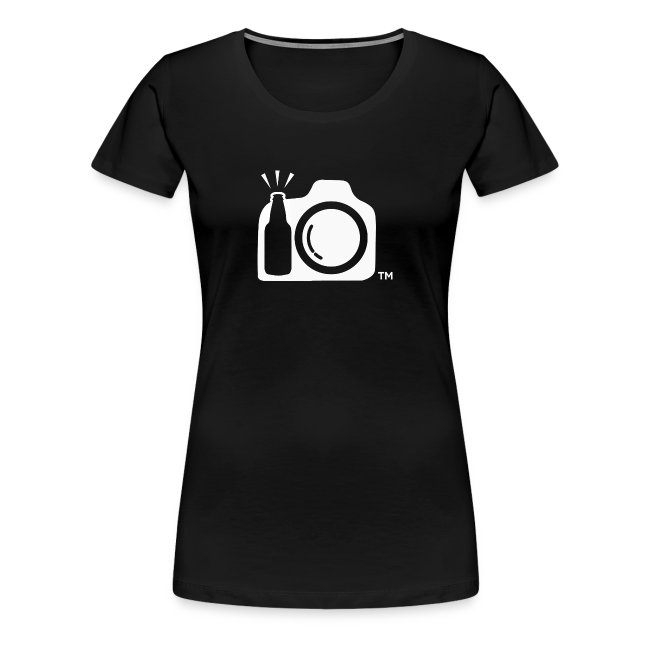 Women's Small Black Shirt White Logo - Drink and Click Back