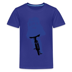 Yeti on a Bike - Kids' Premium T-Shirt