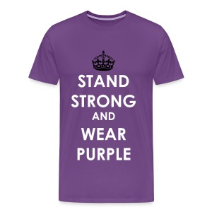 #SpiritDay Stand Strong and Wear Purple - Men's T-shirt - Men's Premium T-Shirt
