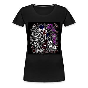 Skitzo The Clown (Ladies 3X T-Shirt) - Women's Premium T-Shirt