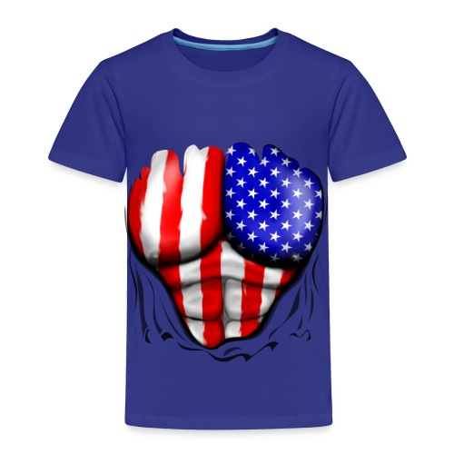 American Superhero - Toddler Premium T-Shirt