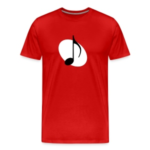 White Music Emblem - Men's Premium T-Shirt