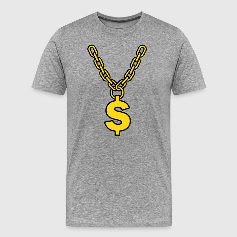 dollar gold chain  T-Shirts - Men's Premium T-Shirt