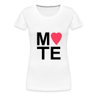 T-Shirts ~ Women's Premium T-Shirt ~ Soulmate MATE Pair Women's Couple Shirt