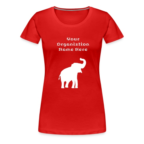 Red Tee with Elephant - Women's Premium T-Shirt