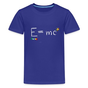 E=mc White - Kids' Premium T-Shirt