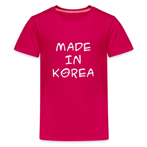 Made in Korea Kid's t-shirt pink - Kids' Premium T-Shirt