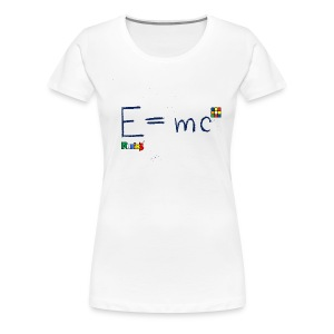 E=mc Blue - Women's Premium T-Shirt