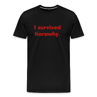 T-Shirts ~ Men's Premium T-Shirt ~ I survived tiarawhy male shirt!