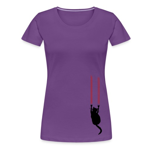 Scratcher Cat Tee - Women's Premium T-Shirt