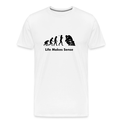 EvPhil Logo on White with Subtitle - Men's Premium T-Shirt