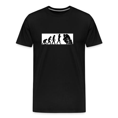 EvPhil Logo on Black - Men's Premium T-Shirt