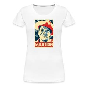 Reagan: Solution - Obama Poster Parody