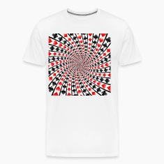 Card Suits Spiral / Vortex: T-Shirt