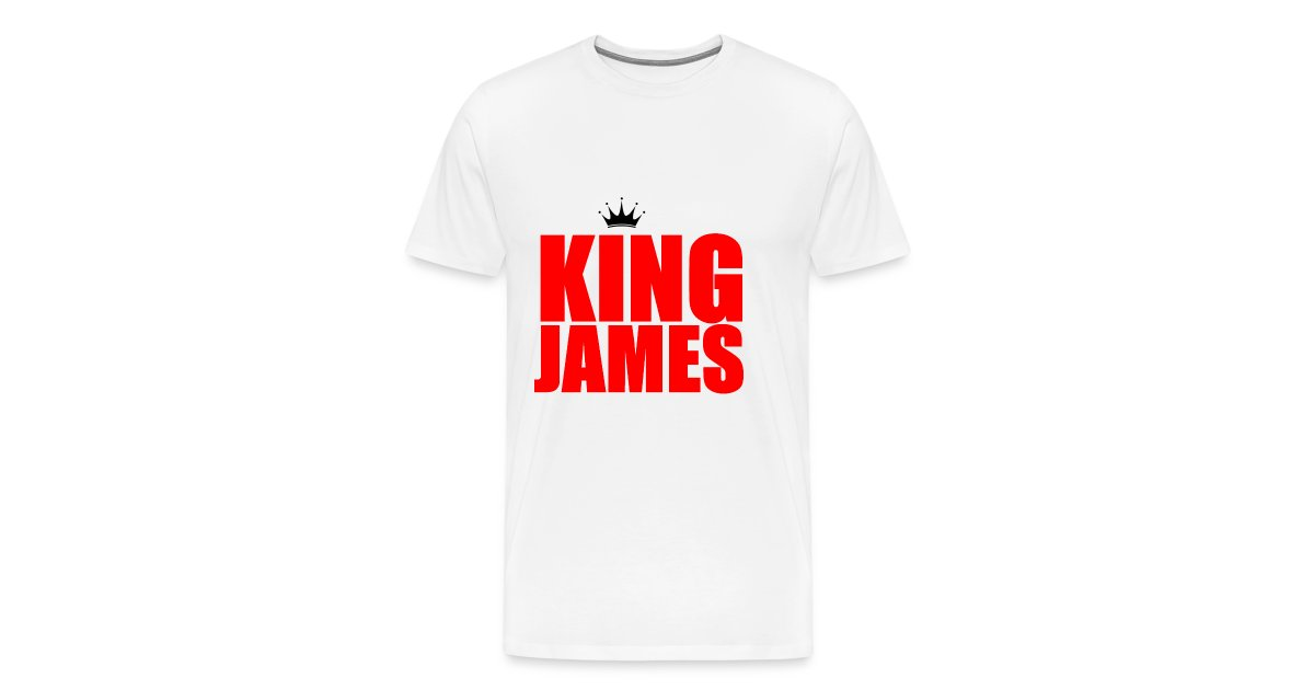sale retailer 074f4 aea8c NBA2K4LIFE Shop - 100 Basketball | king James T-Shirt - Mens Premium T-Shirt