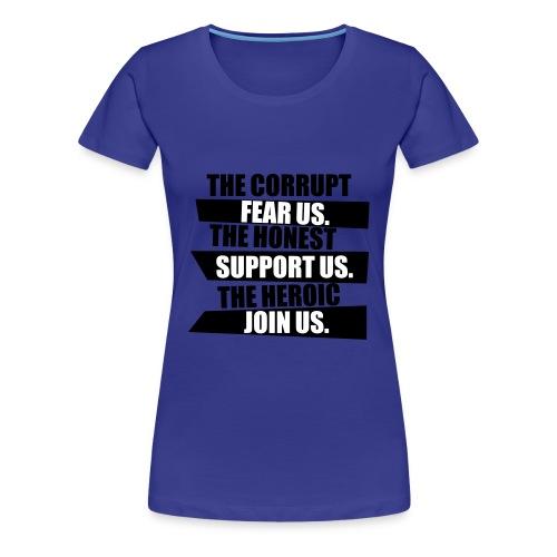 Women's Support Tee - Women's Premium T-Shirt