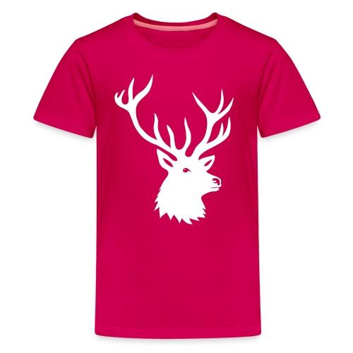 animal t-shirt stag antler cervine deer buck night hunter bachelor - Kids' Premium T-Shirt