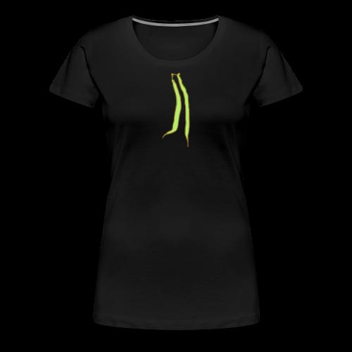 Green Bean Tie Gold T-Shirt - Women's Premium T-Shirt