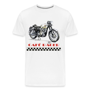 Cafe Racer - Gold Star - Men's Premium T-Shirt