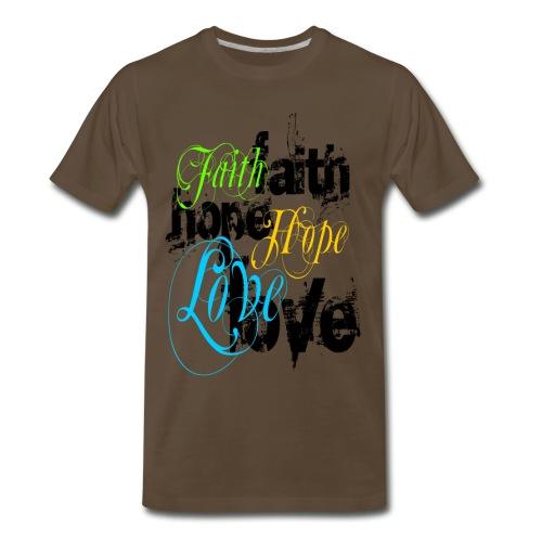 Faith Hope and Love - Men's Premium T-Shirt