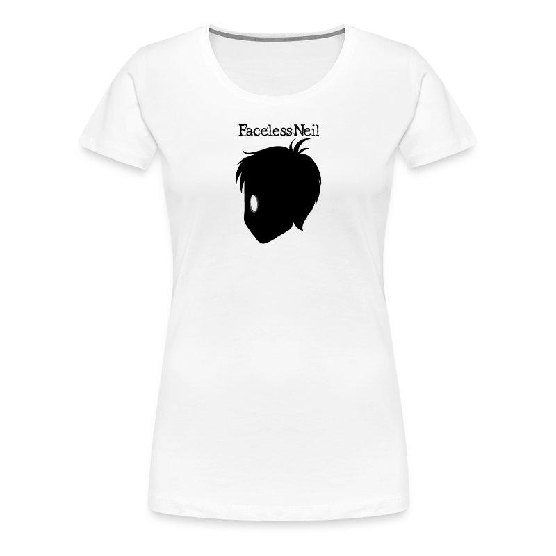Faceless Neil Logo Girl T-Shirt - Women's Premium T-Shirt