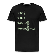 T-Shirts ~ Men's Premium T-Shirt ~ Maxwell's Equations - Differential Form (Glow in the Dark)