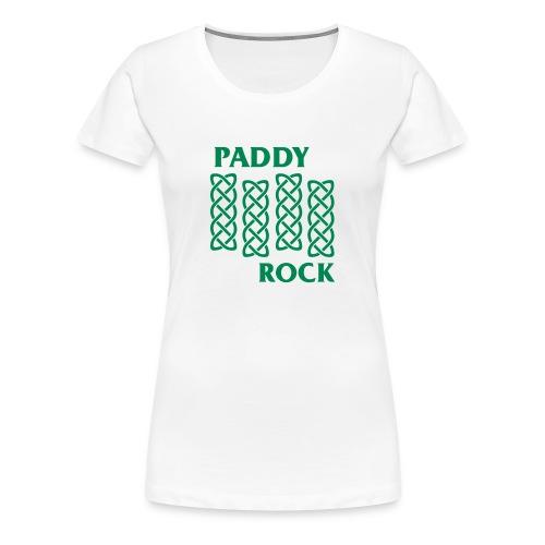 Official Women's Paddy Rock T-shirt (White) - Women's Premium T-Shirt