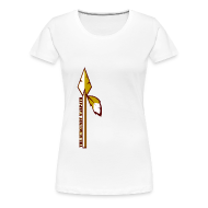 Women's T-Shirts ~ Women's Premium T-Shirt ~ Womens Burgundy Warpath Tee