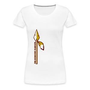 Womens Burgundy Warpath Tee - Women's Premium T-Shirt