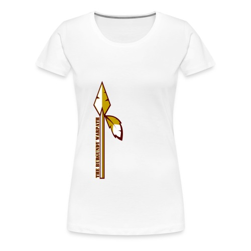 Womens Burgundy Warpath Tee - Women's Premium T-Shirt