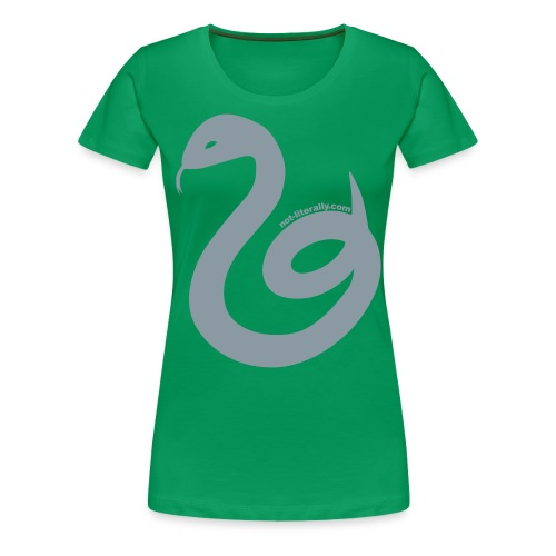 Women's Plus Sized Slytherin Tee - Women's Premium T-Shirt