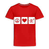 Baby & Toddler Shirts ~ Toddler Premium T-Shirt ~ Peace Love Spirit