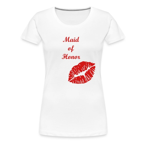 Bridal Party Collection (Maid of Honor) - Women's Premium T-Shirt