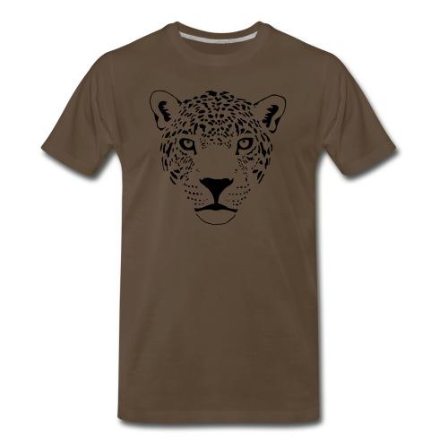animal t-shirt jaguar cougar cat puma tiger panther leopard cheetah lion - Men's Premium T-Shirt