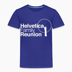 helvetica family reunion Baby & Toddler Shirts