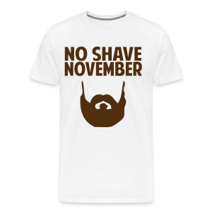 No Shave November Shirt - Men's Premium T-Shirt