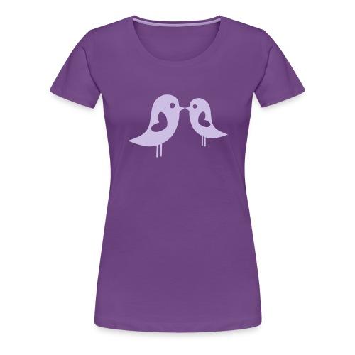 Love Birds (Purple) Women's Classic T-Shirt - Women's Premium T-Shirt