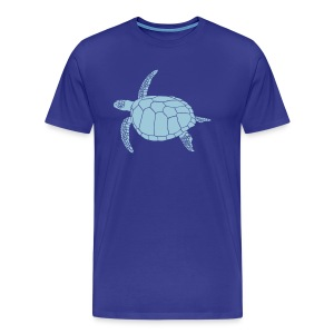 animal t-shirt sea turtle scuba diving diver marine endangered species - Men's Premium T-Shirt