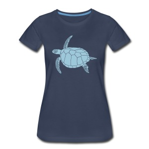 animal t-shirt sea turtle scuba diving diver marine endangered species - Women's Premium T-Shirt