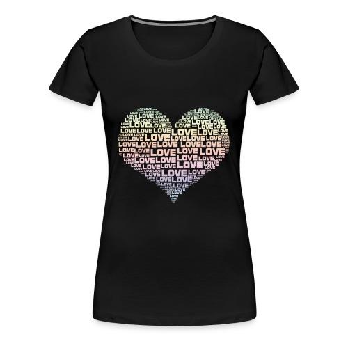 One Heart Big Love - Women's Premium T-Shirt