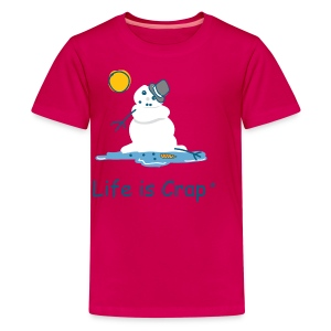 Melting Snowman - Kids' Premium T-Shirt