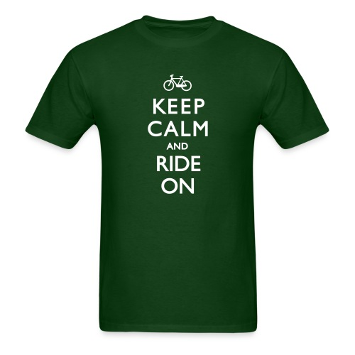 KEEP CALM AND RIDE ON - Men's T-Shirt