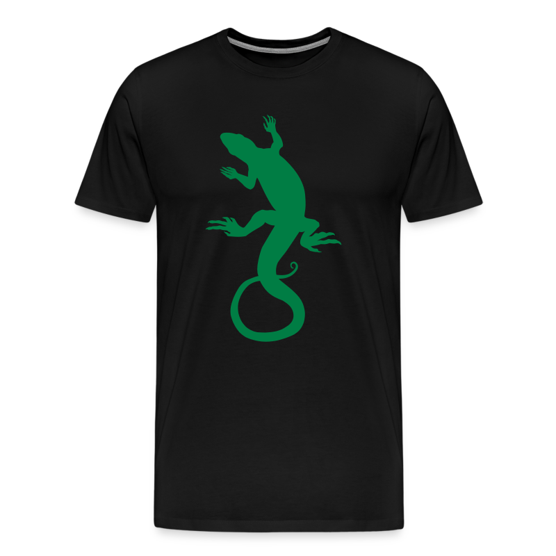 Men's Lizard Art Shirt 4XL Reptile T-shirt - Men's Premium T-Shirt