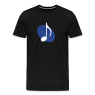 T-Shirts ~ Men's Premium T-Shirt ~ Blue Music Emblem