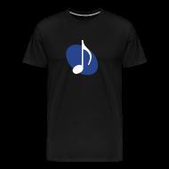 T-Shirts ~ Men's Premium T-Shirt ~ Blue Music Emblem