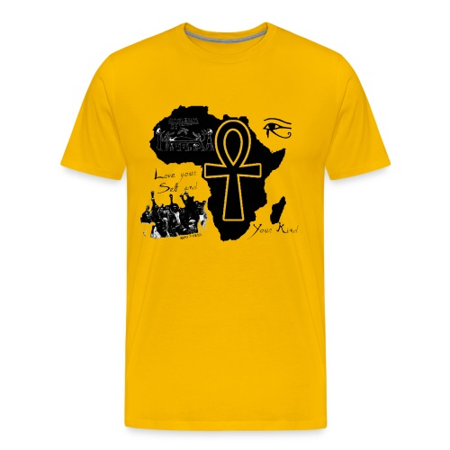 Nappy 9 - africa and love  - Men's Premium T-Shirt