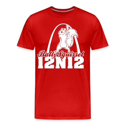 Cardinals Rally Squirrel - 12 in 12 3XL+ - Men's Premium T-Shirt
