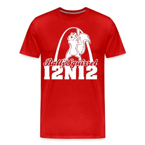 Cardinals Rally Squirrel - 12 in 12 3XL+ - Men's Premium T-Shirt