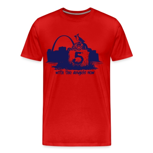 He is with the Angels Now 3XL+ - Men's Premium T-Shirt